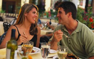 Couple Dining Restaurant